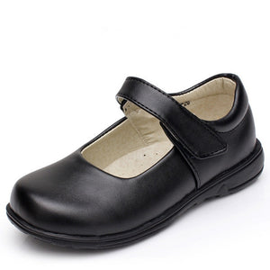 Girls Children'S Black Leather Shoes