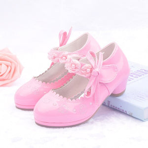 Kids Flower Girls Shoes For Party