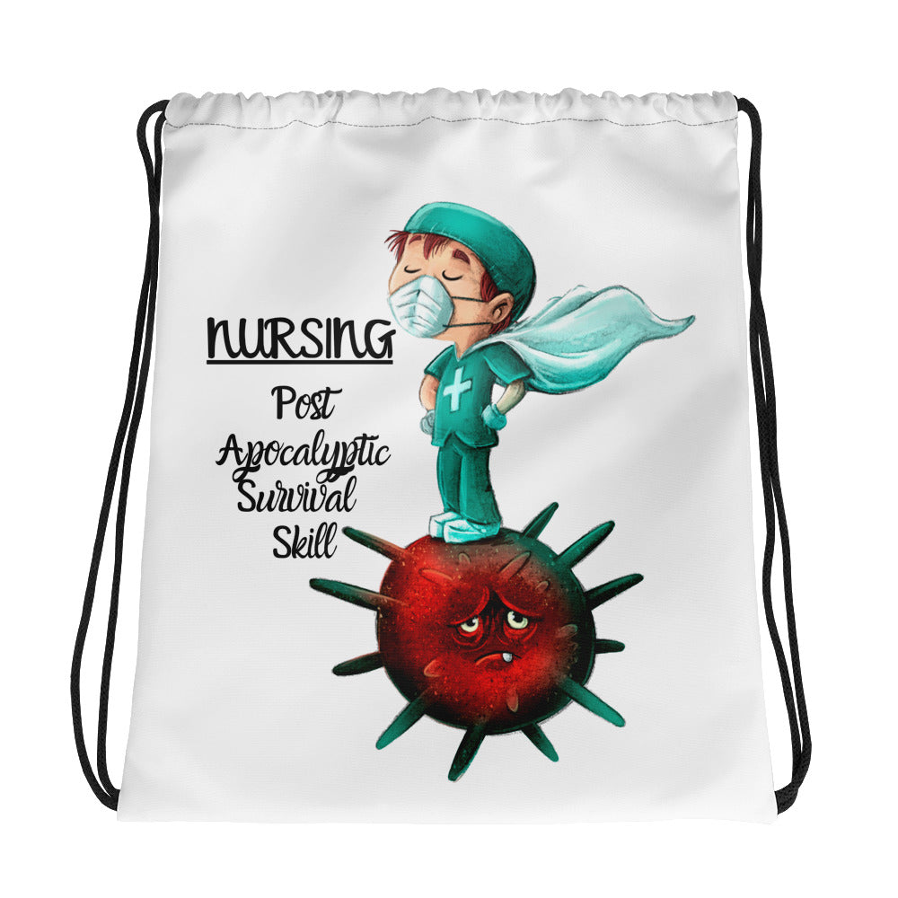 Male Nurse Drawstring bag - Art Squad