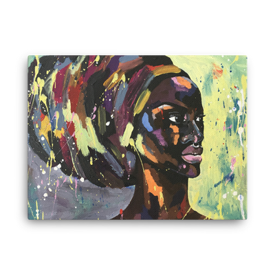 ''Afro'' Canvas Prints - Art Squad