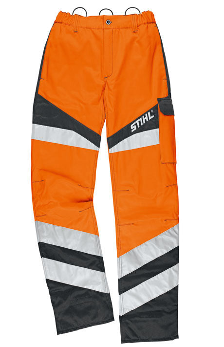 STIHL Protect FS clearing saw and high-visibility trousers