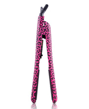 Load image into Gallery viewer, Classic Print 100% Ceramic Tourmaline Plates Soft Touch Hair Straightener - Hot Pink Leopard