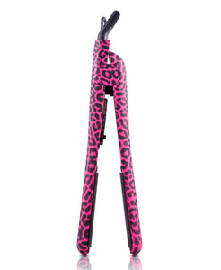 Full Set 100% Ceramic Plates Straightener, Mini Straightener and Curling Wand - Pink Leopard