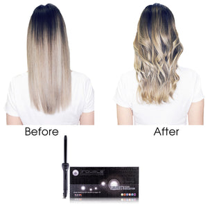Cool Tip/Soft Touch Tourmaline Curling Wand 19MM - Black