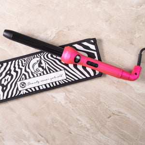 Cool Tip/Soft Touch Tourmaline Curling Wand 25MM - Hot Pink