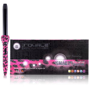 Cool Tip/Soft Touch Tourmaline Curling Wand 25MM - Pink Leopard