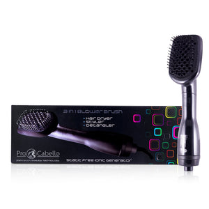 3 in 1 Drying Brush, Styler, & Detangler - Black