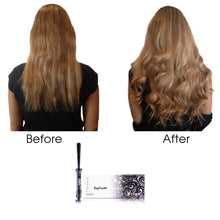 Load image into Gallery viewer, Cool Tip Reverse Curls Tourmaline Curling Wand - Black