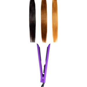 Limited Edition - Platinum Genius Heating Element Hair Straightener with 100% Ceramic Plates - Sparkling Purple