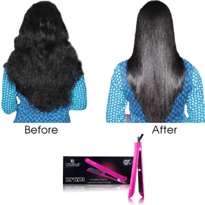 Platinum Genius Heating Element Hair Straightener with 100% Ceramic Plates - Hot Pink - RoyaleUSA ?id=13722815266859