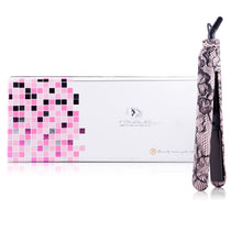 Load image into Gallery viewer, Classic Print 100% Ceramic Tourmaline Plates Soft Touch Hair Straightener - Pink Lace