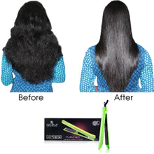 Load image into Gallery viewer, Platinum Genius Heating Element Hair Straightener with 100% Ceramic Plates - Lime Green