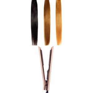 Limited Edition - Platinum Genius Heating Element Hair Straightener with 100% Ceramic Plates - Sparkling Rose Gold