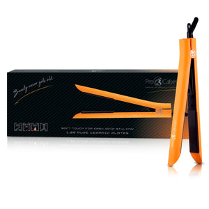 Platinum Genius Heating Element Hair Straightener with 100% Ceramic Plates - Neon Orange