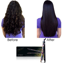 Load image into Gallery viewer, Platinum Genius Heating Element Hair Straightener with 100% Ceramic Plates - Emoji Styling