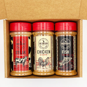 Steak, Chicken & Fish Seasoning 3-Pack