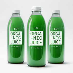 Three Bottles ES Organic Healthy Greenes Juice