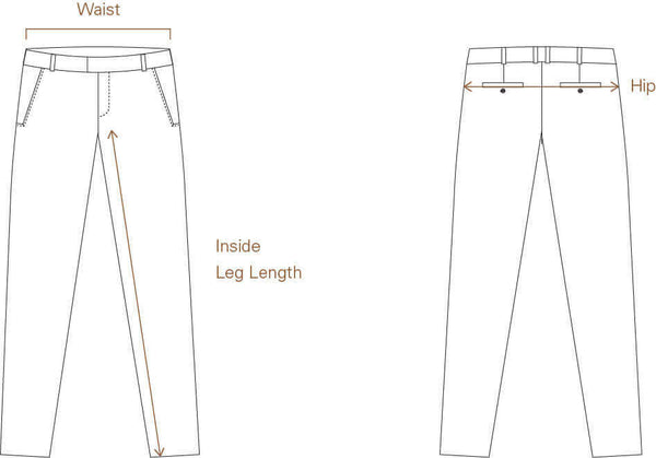 Size Guide for Men's Denim and Trousers