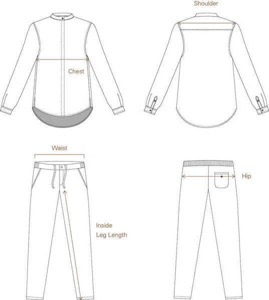 Size Guide for Women's Shirts, T-Shirts, and Relaxed Pants