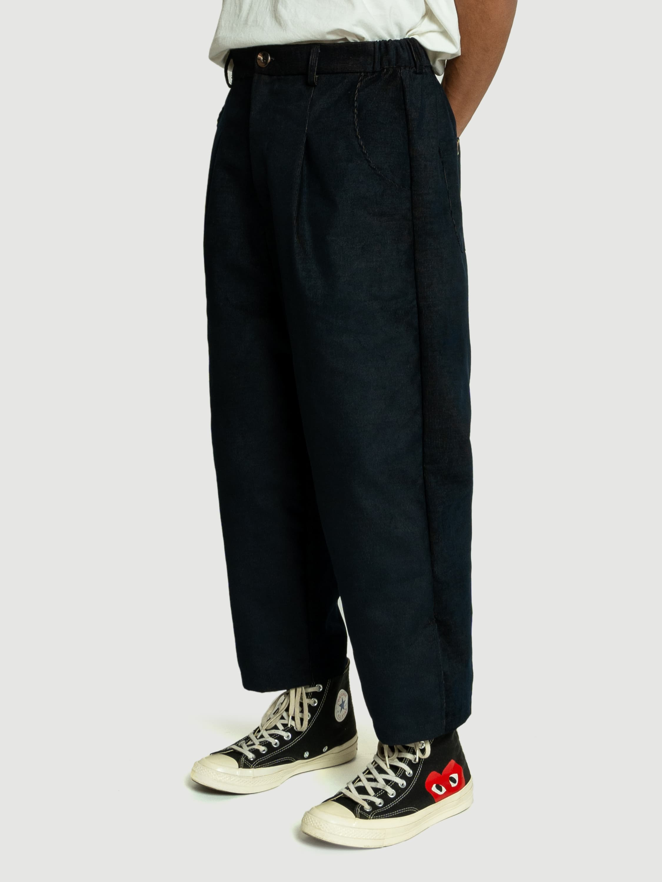 Baggy Black Corduroy Pants