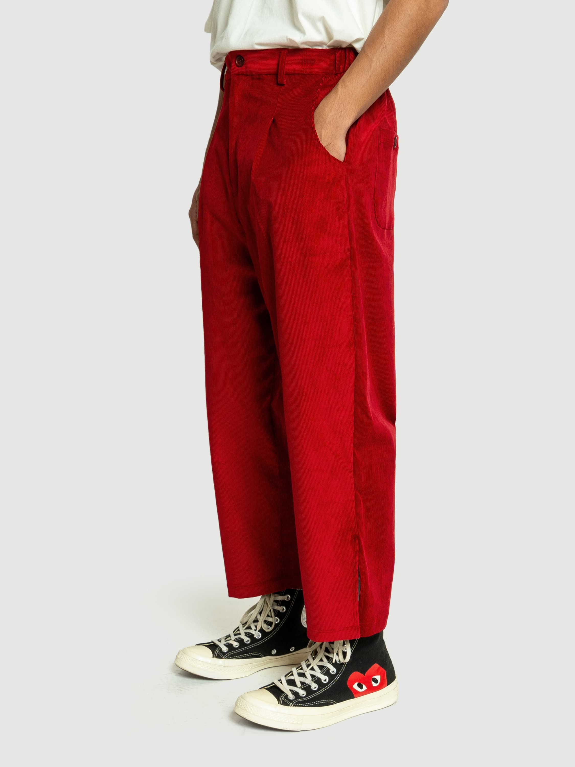 Baggy Red Corduroy Pants