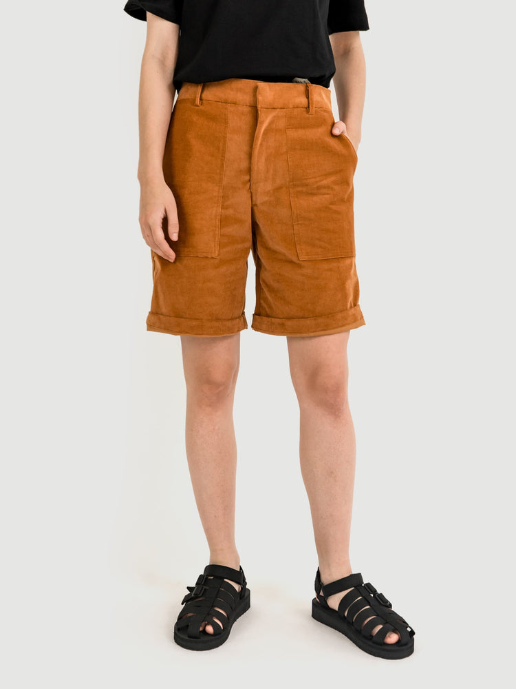 Easy Khaki Corduroy Shorts