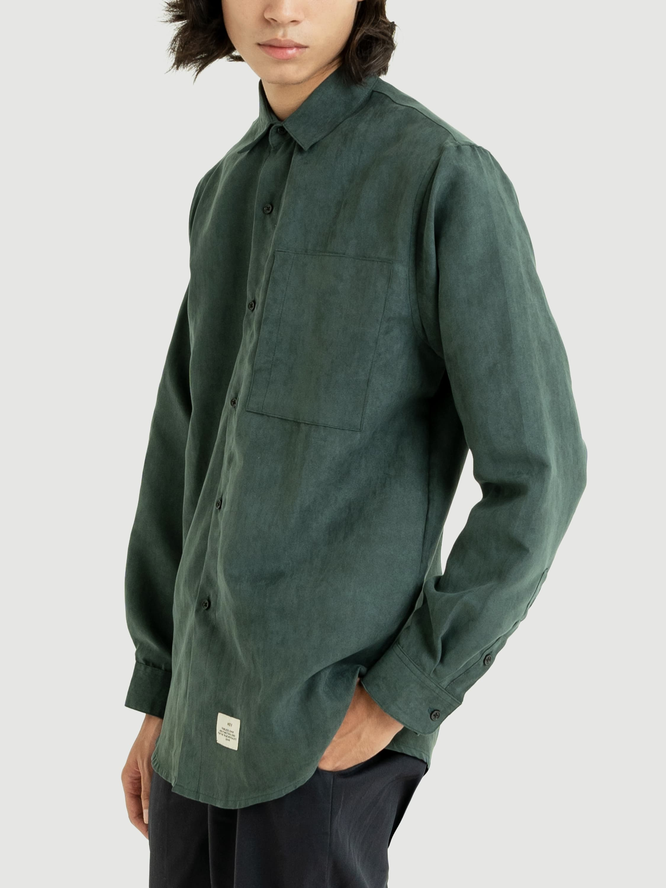 Classic Dark Olive Suede Shirt