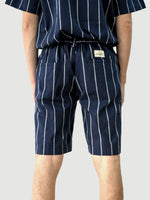 Easy Navy Stripes Wool Shorts