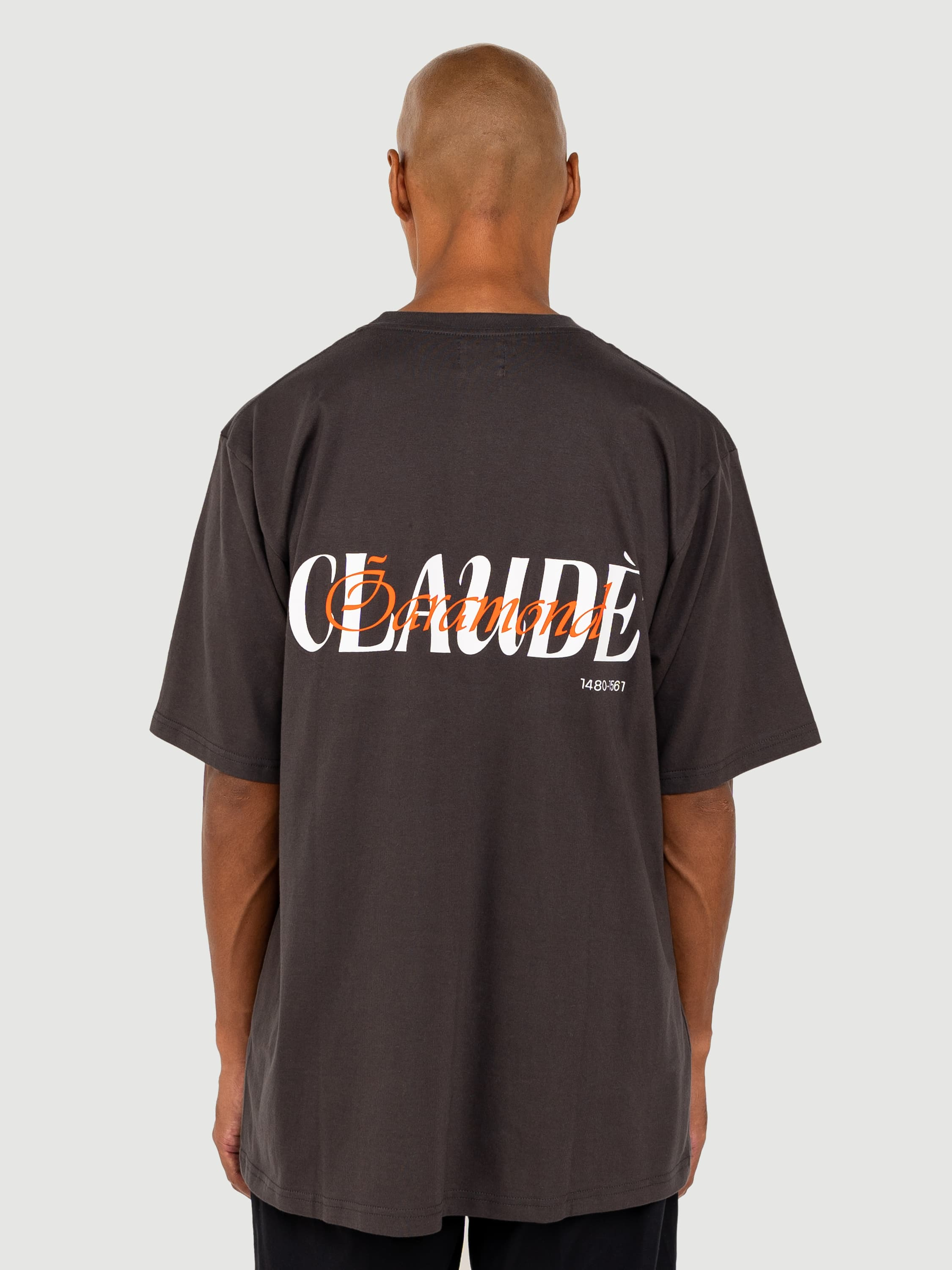 Claude Garamond Charcoal T-shirt