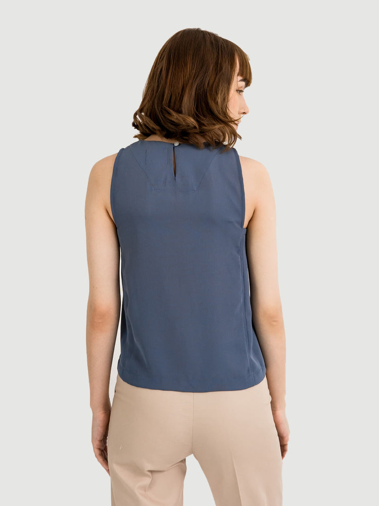 Layer Squared Blue Top
