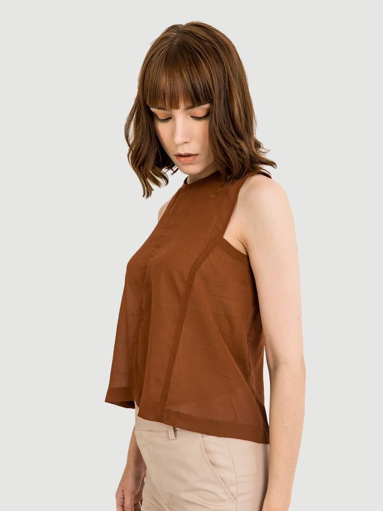 Layer Squared Terracotta Top