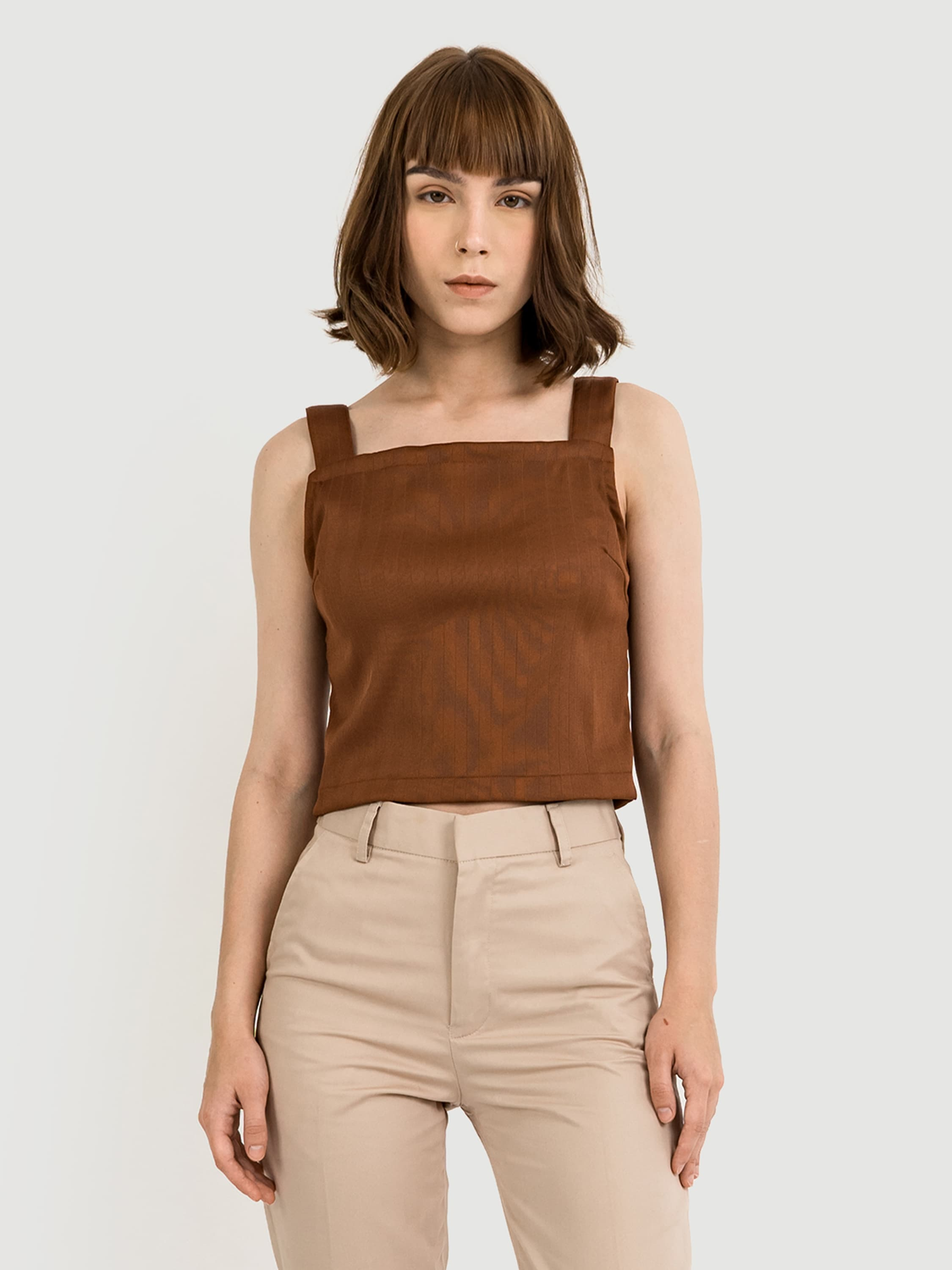 Wide Strap Terracotta Top