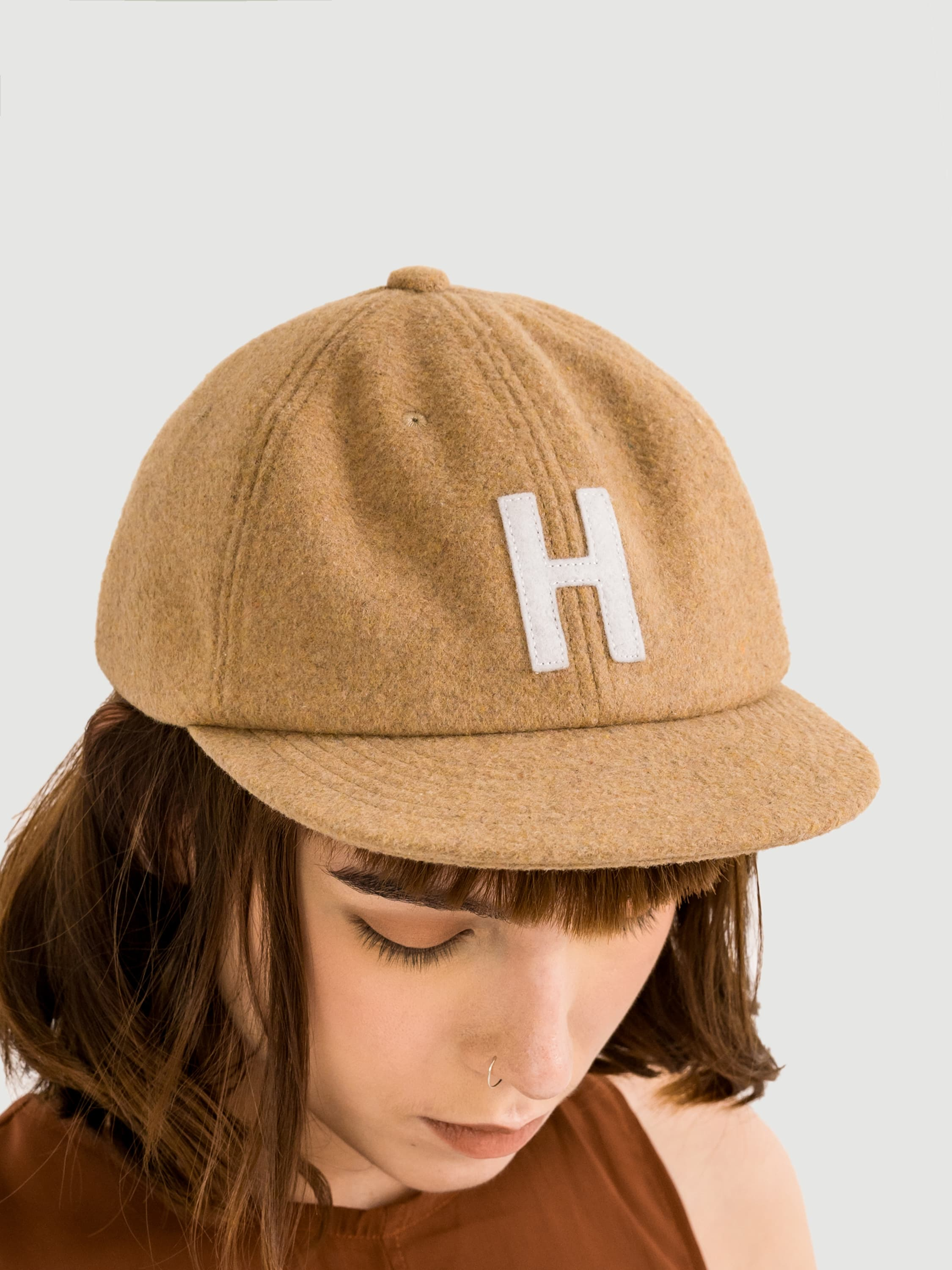 Wool Brown Caps