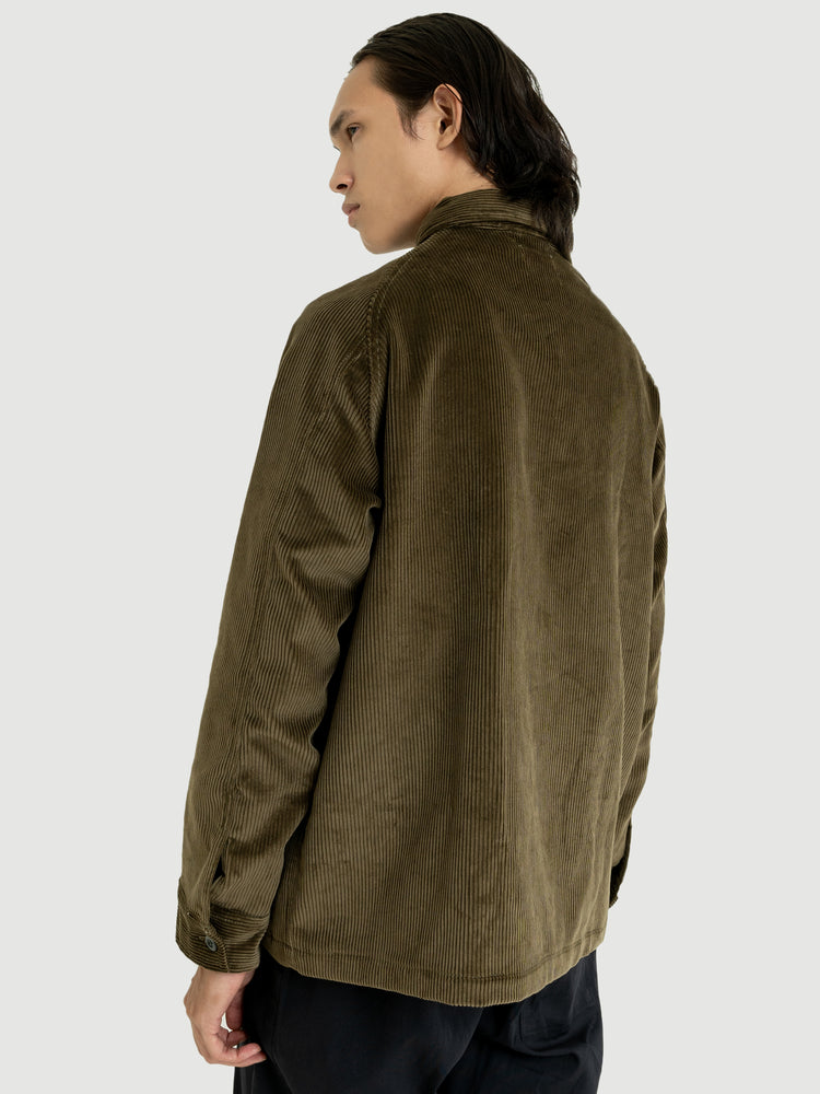 Zip Brown Olive Corduroy Jacket