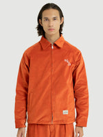 Zip Orange Corduroy Jacket