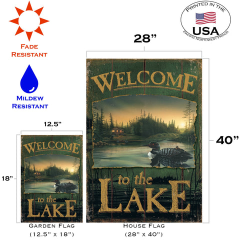 Loon Lake Welcome Flag Toland Flags