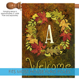 Fall Wreath Monogram A Image 3