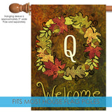 Fall Wreath Monogram Q Image 3