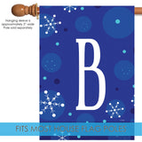 Winter Snowflakes Monogram B Image 3