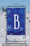 Winter Snowflakes Monogram B Image 6