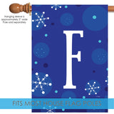 Winter Snowflakes Monogram F Image 3