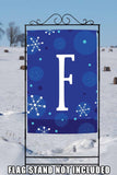 Winter Snowflakes Monogram F Image 6