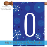 Winter Snowflakes Monogram O Image 3