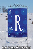 Winter Snowflakes Monogram R Image 6