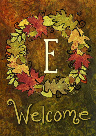 Fall Wreath Monogram E Image 1