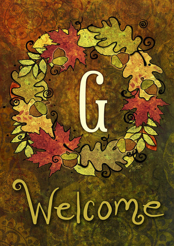 Fall Wreath Monogram G Image 1