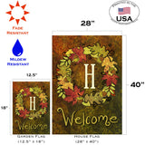 Fall Wreath Monogram H Image 4