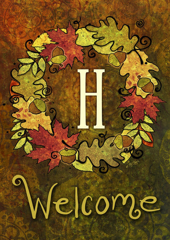 Fall Wreath Monogram H Image 1
