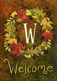 Fall Wreath Monogram W Image 1