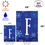 Winter Snowflakes Monogram F Image 4